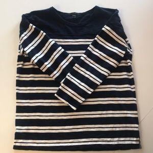 J. Crew Striped 3/4 Length Shirt